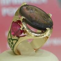 Никитенко Святослав — кольцо с камеей-иконой