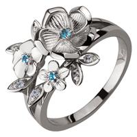 Золотое кольцо 585 пробы с топазами