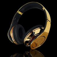 Золотые наушники Dr. Dre Beats от Crystal Rock