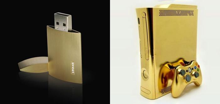 Флешка White Lake и золотой Xbox 360