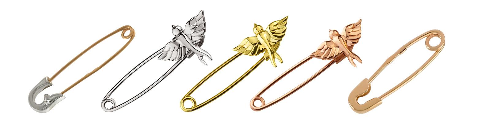 Золотые булавки 585 пробы