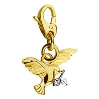 Золотой кулон 750 пробы с бриллиантами и корундом