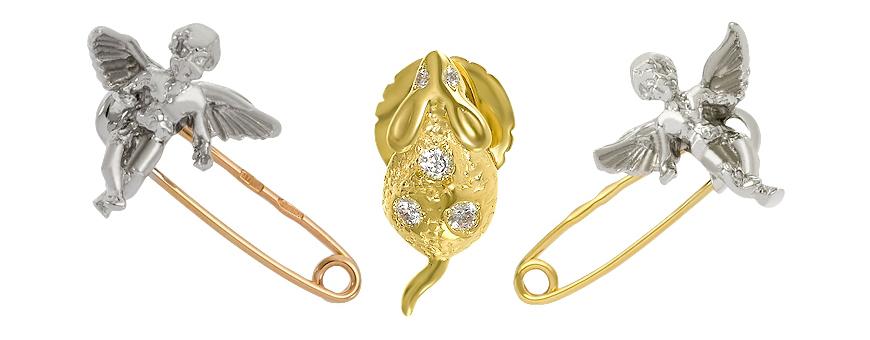 Модные тенденции от diamant.kiev.ua:  как правильно выбирать и носить золотую булавку