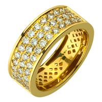 Золотое кольцо 750 пробы с бриллиантами