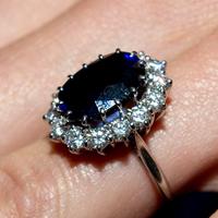 Обручально кольцо с сапфиром Леди Дианы